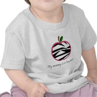 Mi mamá es profesor - estampado de zebra Apple Camiseta