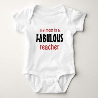 Mi mamá es profesor fabuloso para el bebé playera