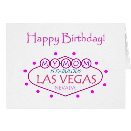 MI MAMÁ es tarjeta fabulosa de Las Vegas del feliz