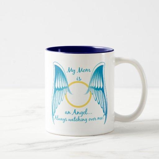Mi mamá es un ángel tazas de café