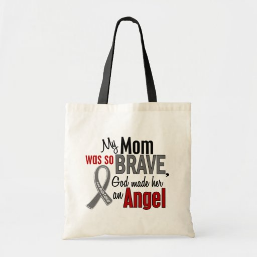 Mi mamá es un cáncer de cerebro del ángel 1 bolsas de mano