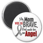Mi mamá es un cáncer de cerebro del ángel 1 imanes para frigoríficos