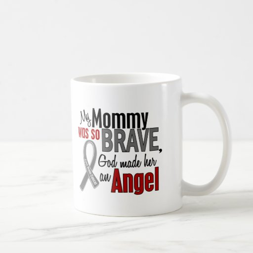 Mi mamá es un cáncer de cerebro del ángel 1 taza básica blanca