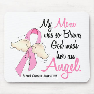 Mi mamá es un cáncer de pecho del ángel 2 tapetes de raton