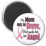 Mi mamá es un cáncer de pecho del ángel imanes para frigoríficos