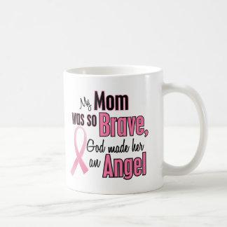 Mi mamá es un cáncer de pecho del ángel tazas de café