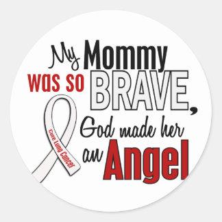Mi mamá es un cáncer de pulmón del ángel etiqueta redonda