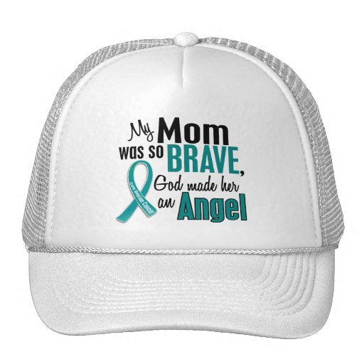 Mi mamá es un cáncer ovárico del ángel 1 gorras