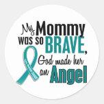 Mi mamá es un cáncer ovárico del ángel 1 pegatinas