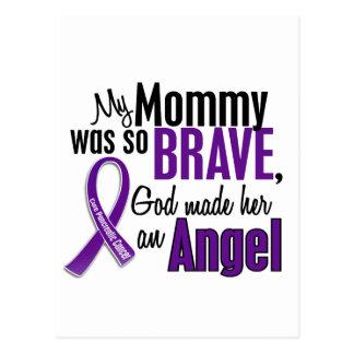 Mi mamá es un cáncer pancreático del ángel tarjeta postal