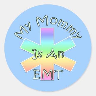 Mi mamá es un EMT Pegatina Redonda