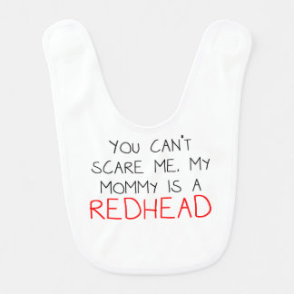 Mi mamá es un Redhead Baberos De Bebé