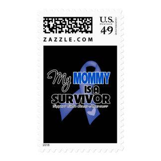 Mi mamá es un superviviente - cáncer de colon timbres postales