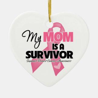 Mi mamá es un superviviente - cáncer de pecho adornos de navidad