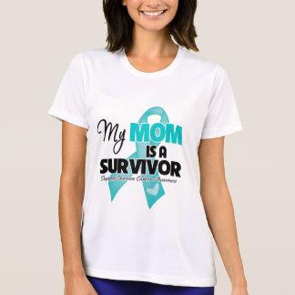 Mi mamá es un superviviente - cáncer ovárico remera