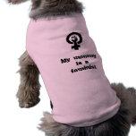 Mi mamá es una camisa feminista del perro camisas de perritos