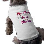 Mi mamá es una camiseta del perro de la ENFERMERA- Camisetas De Perrito
