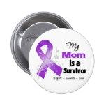 Mi mamá es una cinta de la púrpura del supervivien pin
