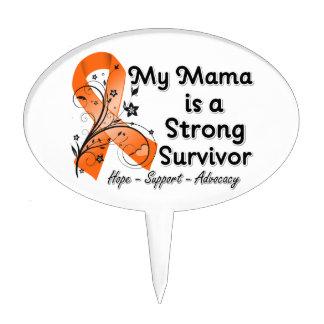 Mi mamá es una cinta fuerte del naranja del superv decoraciones para tartas