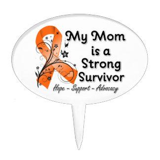 Mi mamá es una cinta fuerte del naranja del superv figura de tarta