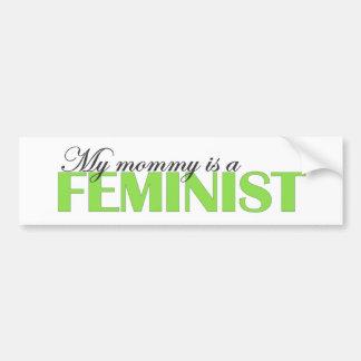 Mi mamá es una feminista etiqueta de parachoque