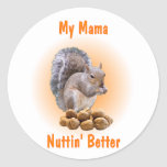 Mi mamá etiqueta redonda