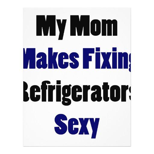 Mi mamá hace los refrigeradores de la fijación atr tarjetones