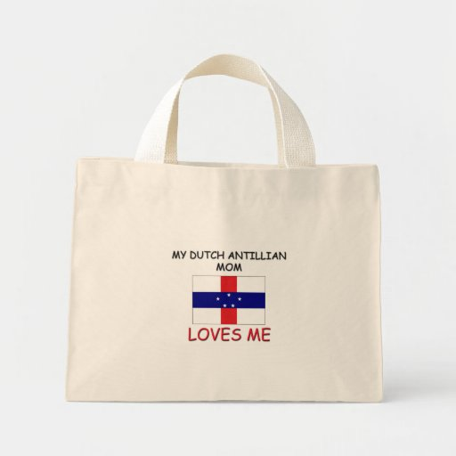 Mi mamá holandesa de Antillian me ama Bolsa Tela Pequeña