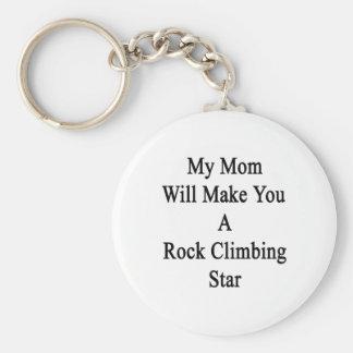 Mi mamá le hará una estrella de la escalada llavero personalizado