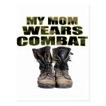 Mi mamá lleva botas de combate postales
