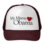 Mi mamá Loves Obama Gorros