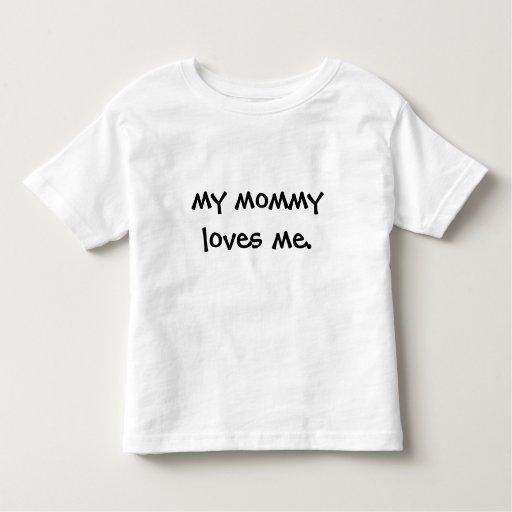 mi mamá me ama playera de bebé