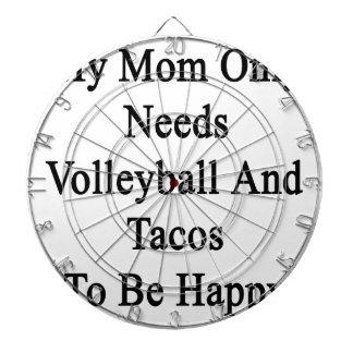 Mi mamá necesita solamente voleibol y el Tacos ser
