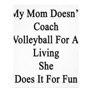 Mi mamá no entrena el voleibol para una vida ella membrete a diseño