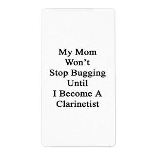 Mi mamá no parará el fastidiar hasta que haga un C Etiquetas De Envío