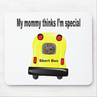 Mi mamá piensa smiley del special im en un autobús tapete de raton