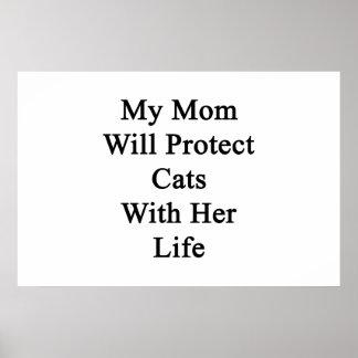 Mi mamá protegerá gatos con su vida poster