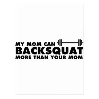 ¡Mi mamá puede Backsquat! Tarjeta Postal