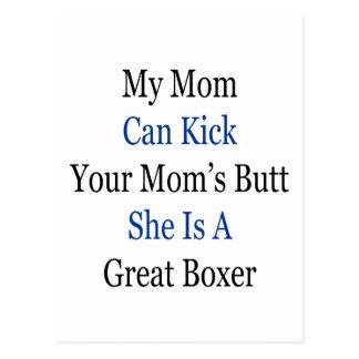 Mi mamá puede golpear el extremo de su mamá con el postales