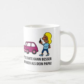 mi mamá puede mejor einparken que Tu papá Taza De Café