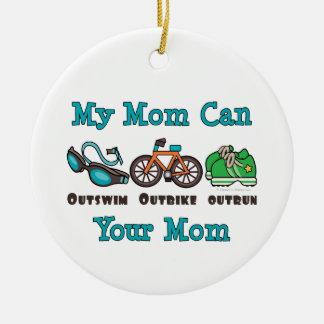 Mi mamá puede Outswim el Triathlon superado Outbik Ornamentos De Reyes