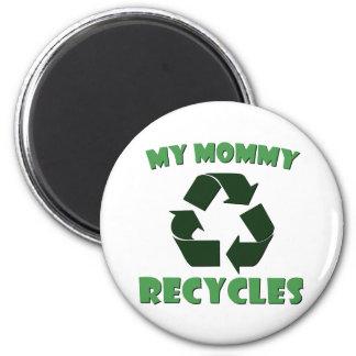 Mi mamá recicla imán redondo 5 cm