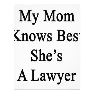 Mi mamá sabe mejor que ella es abogado plantilla de membrete