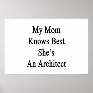 Mi mamá sabe mejor que ella es arquitecto póster