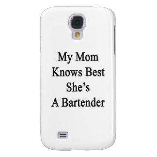 Mi mamá sabe mejor que ella es camarero carcasa para galaxy s4