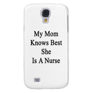 Mi mamá sabe mejor que ella es enfermera funda para samsung galaxy s4