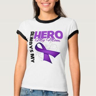 Mi mamá siempre mi héroe - cinta púrpura remera
