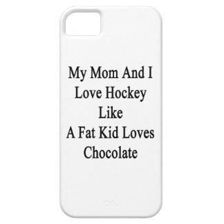 Mi mamá y yo amamos hockey como los amores Choc de iPhone 5 Carcasas