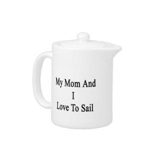 Mi mamá y yo amamos navegar