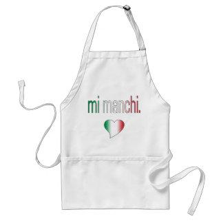 ¡MI Manchi Colores de la bandera de Italia Delantales